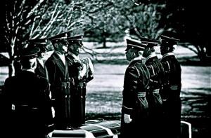 Army Honor Guard at Arlington National Cemetery Flag Folding