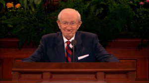Brother Monson is a very difficult man to follow. He is full of humor ...