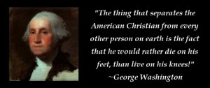 George Washington Quote - American Christian photo ...