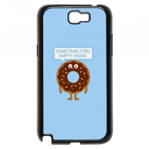 Funny Donut Hungry Quotes Galaxy Note 2 Case