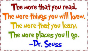 Dr Seuss Reading Quotes Dr seuss reading quotes