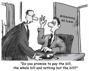 lawyer swears in a new client as if in court,