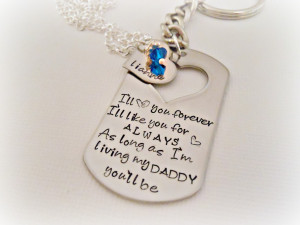 Like Father Like Daughter Quotes Hand stamped father daughter