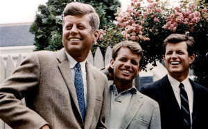 The Kennedy family in pictures. John, Robert, and Edward Kennedy ...
