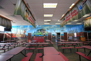 High School Cafeteria Wall Mural Quotes Out The