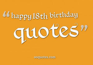 collection about happy 18th birthday quotes