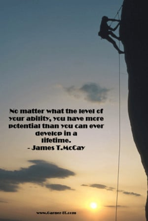 Quote - James T. McCay - Potential - Garner IT Consulting