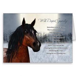 pet_horse_sympathy_card_loss_of_pet_horse ...