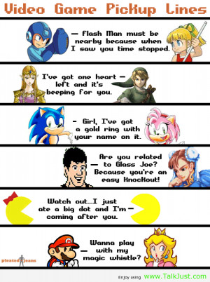 Video Game Romance video-game-pickup-lines