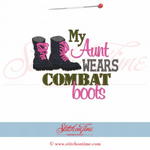 5305 Sayings : I Wear Crowns Daddy Wears Combat Boots 5x7 £1.90p