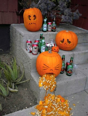 One pumpkin had way too much to drink