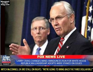 Larry Craig and Mitch McConnel