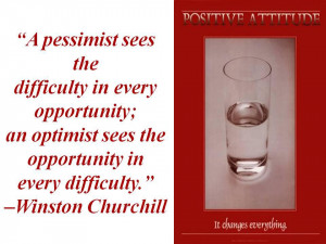 Pessimist Vs Optimist Quotes