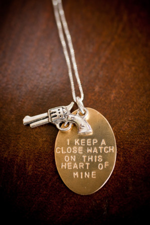 Johnny Cash Quote Necklace