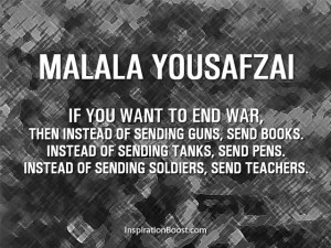 Malala Yousafzai Peace Quotes