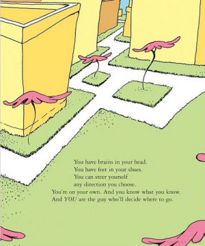 childhood book Dr. Seuss oh the places you'll go