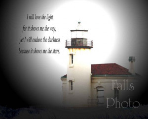 Lighthouse print with quote 8x10