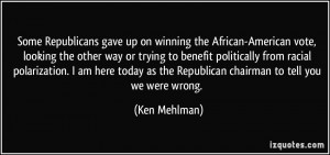 Some Republicans gave up on winning the African-American vote, looking ...