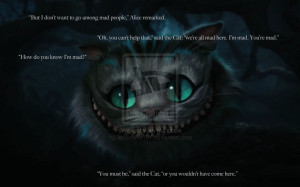 wonderland cat quotes alice in wonderland cheshire alice in wonderland ...