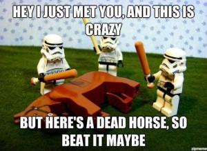 Haha. Beating a dead horse - #callmemaybe