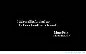 Marco Polo Quotes