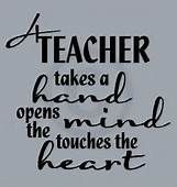 teacher takes a hand opens a heart