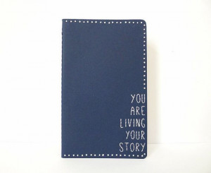 Inspirational Quote Journal / Embroidered Notebook /