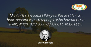 Dale Carnegie Quote on Perseverance