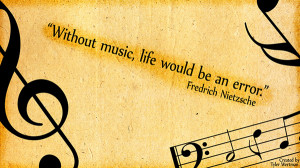 so much less without the presence of music music soothes life and ...