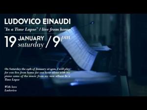 Ludovico Einaudi 'In a time lapse' concerto in diretta da casa sua ...