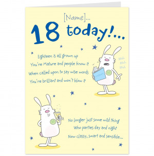 Happy 18th Birthday Funny Wishes 18th birthday rhyme card