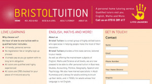 Bristol Tuition approached me after already having a website but ...