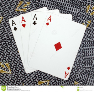 Four Aces Poker Cards Card