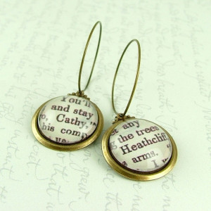 Heathcliff and Cathy Earrings Wuthering Heights by JezebelCharms, $28 ...