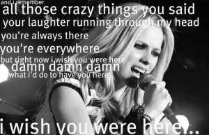 avril lavigne quotes from songs