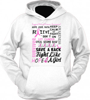 Breast Cancer Mash Up Quote Hoodie