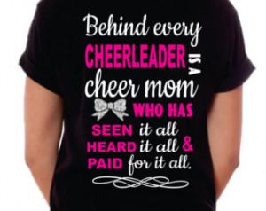 Cheer Mom Shirt, Cheer Mom T-Shirt, Behind every Cheerleader ...