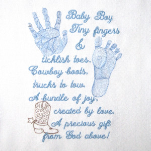 BABY BOY PRINTS & POEM 5X7-baby embroidery designs, baby boy ...