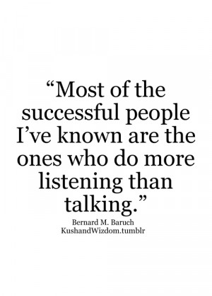 To many, listening is often the impatient waiting until one can get ...