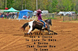 ... racer cowgirl country girl horse paint horse run curve quote saying