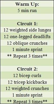 circuit workout- Itty Bits of Balance
