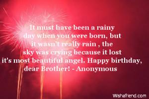 ... it lost it's most beautiful angel. Happy birthday, dear Brother