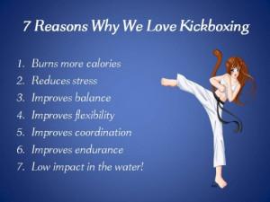 Kickboxing Quotes Aquatic kickboxing