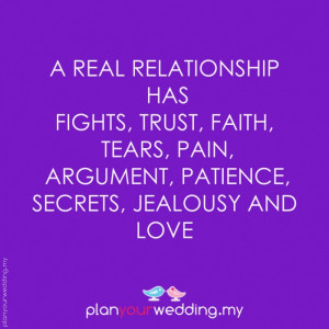 real relationship has fights trust faith tears pain arguments