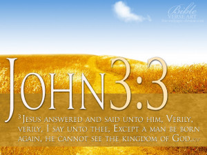 Jesus answered and said unto him, verily