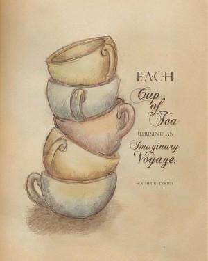Cada taza de té representa un viaje imaginario