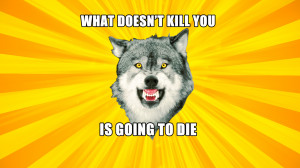 Courage Wolf Meme Blank Courage Wolf Widescreen