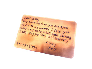 Year Anniversary Quotes For Him Copper wallet 7th year