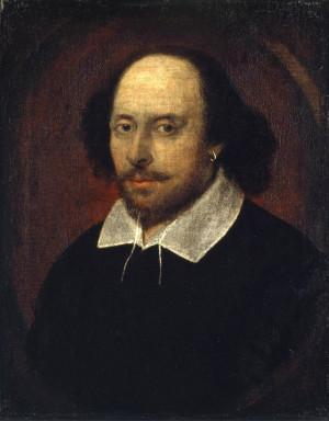 Chandos Portrait of William Shakespeare, circa 1610-16 (public domain ...