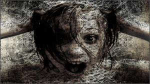 dark gothic horror scream creepy spooky face eyes girl wallpaper ...